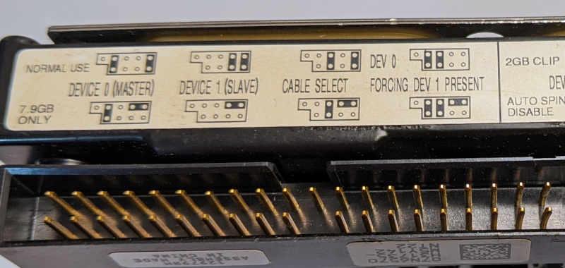 IBM Deskstar IC35L020AVER07-0 Festplatte 20GB Jumper