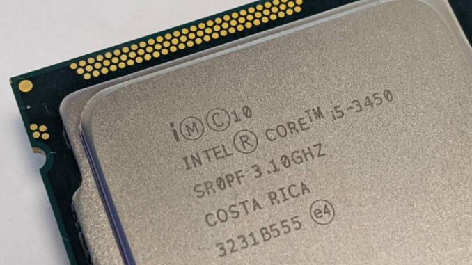 Intel Core i5-3450 Prozessor 3.1GHz SR0PF