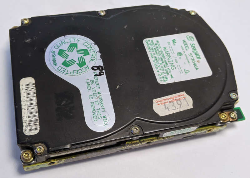 Seagate ST3096A Festplatte 89MB HDD