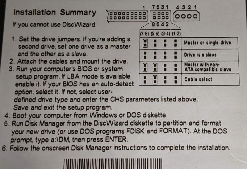 Seagate ST310212A Festplatte 10GB Master Slave Jumper