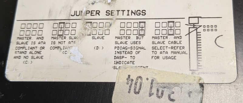Seagate ST3660A Festplatte 545MB Jumper