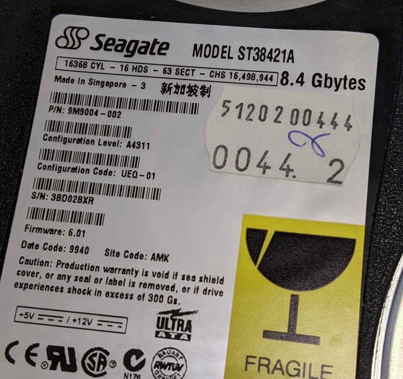 Seagate ST38421A Festplatte IDE ATA 8.4GB
