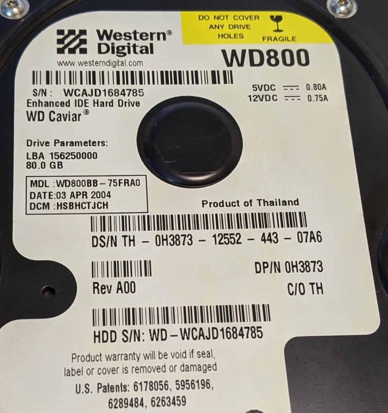 Western Digital Caviar WD800 Festplatte 80GB