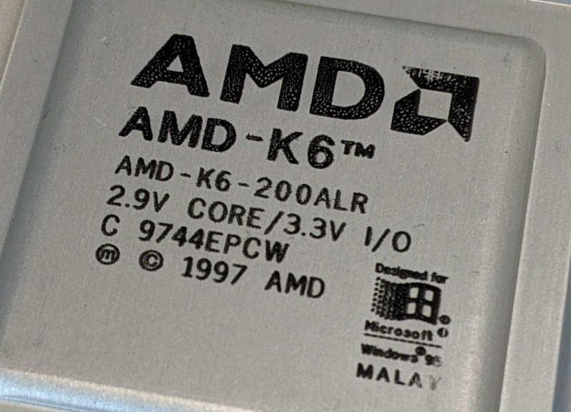 AMD K6-200ALR_Prozessor C9744EPCW 2.9V Core