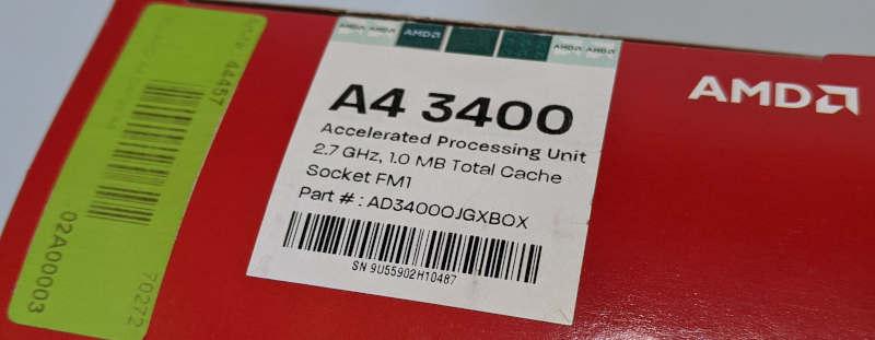 AMD Prozessor A4-3400 Fusion AD34000JZ22GX Box