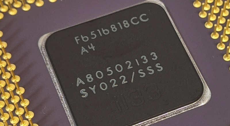 Intel Pentium 133 Prozessor SY022 Unterseite