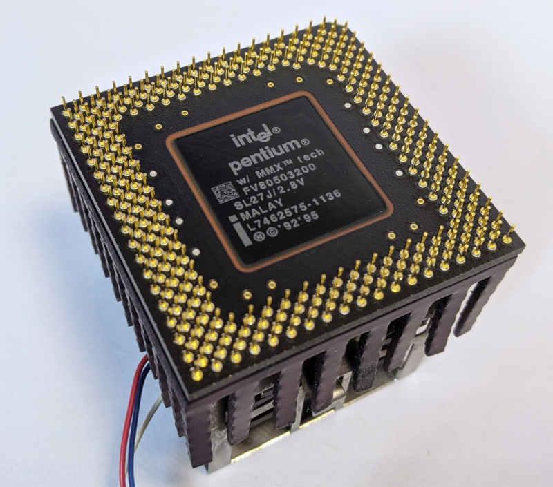 Intel Pentium 200MMX Prozessor SL27J Sockel 7
