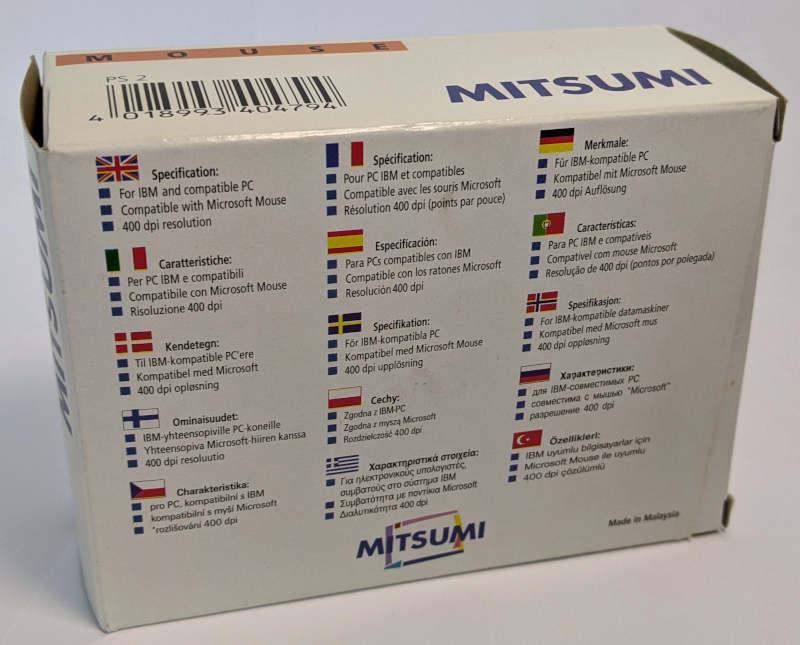 Mitsumi PC-Maus PS/2 Box 4018993404794