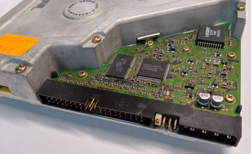 Quantum Bigfoot Festplatte 4320AT Elektronik Jumper