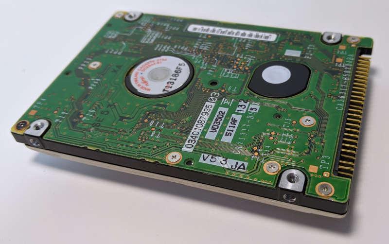 "Fujitsu HDD MHS2040AT 40GB 2,5"" Festplatte IDE Platine"