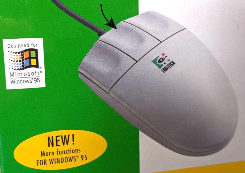 Logitech Pilot Mouse PS/2 - Neu für Windows 95