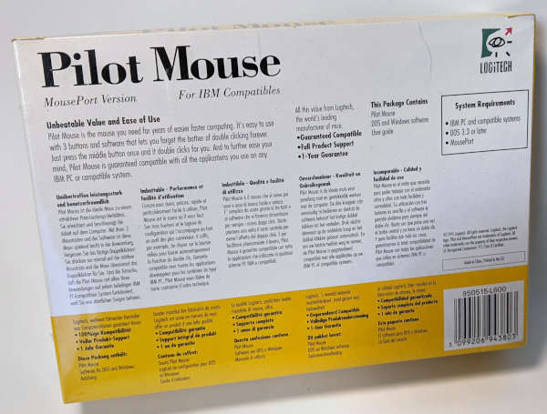 Logitech Pilot Mouse PS/2 - Original-Verpackung