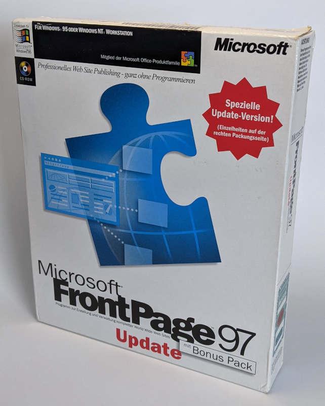 Microsoft Frontpage 97 Update Deutsch Verpackung