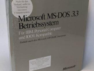Microsoft MS-DOS 3.3 Deutsch Box Retail