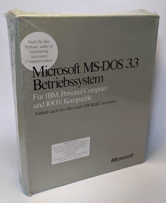 Microsoft MS-DOS 3.3 Betriebssystem Deutsch Box