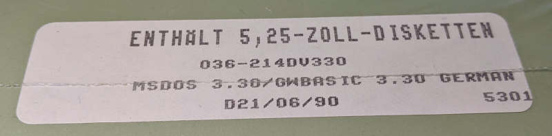 "Microsoft MS-DOS 3.3 Betriebssystem 5,25"" Disketten"