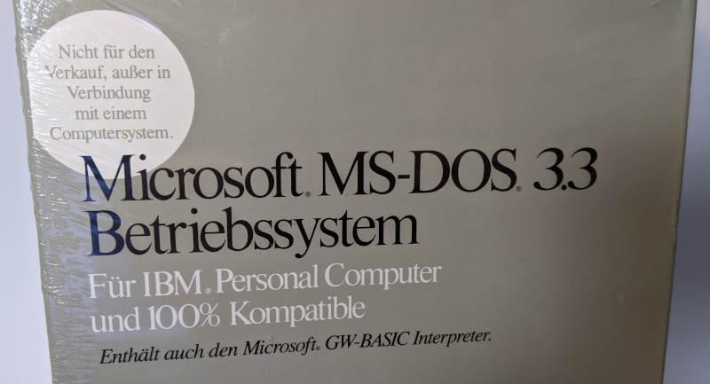 Microsoft MS-DOS 3.3 Betriebssystem mit GW-Basic Interpreter