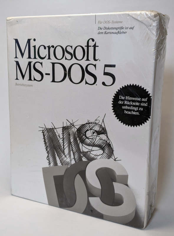 Microsoft MS-DOS 5 Betriebssystem Deutsch Box