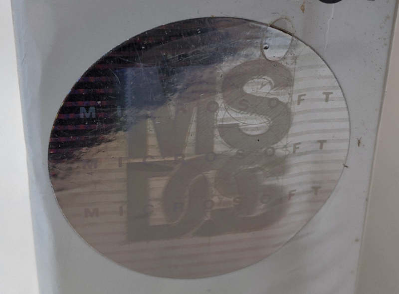 Microsoft MS-DOS 5 Betriebssystem Hologramm