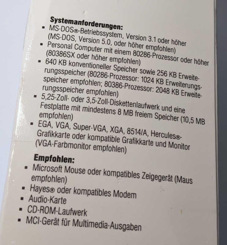 Microsoft Windows 3.1 Betriebssystem Systemanforderungen