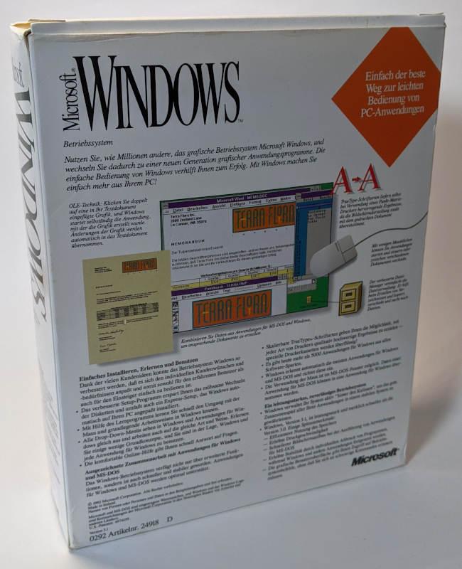 Microsoft Windows 3.1 Betriebssystem Box