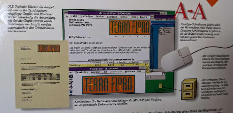 Microsoft Windows 3.1 Betriebssystem Desktop