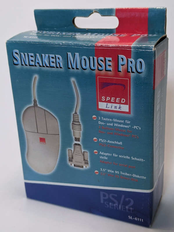 Sneaker Mouse Pro PS/2 + Seriell 3-Tasten-Maus