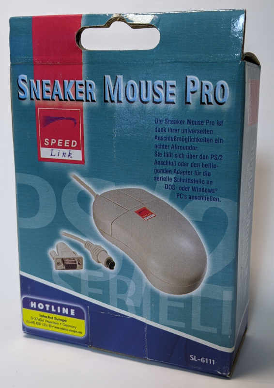 Sneaker Mouse Pro PS/2 + Seriell 3-Tasten-Maus Originalverpackung