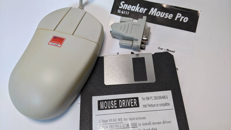 Sneaker Mouse Pro PS/2-Seriell-Adapter und Diskette
