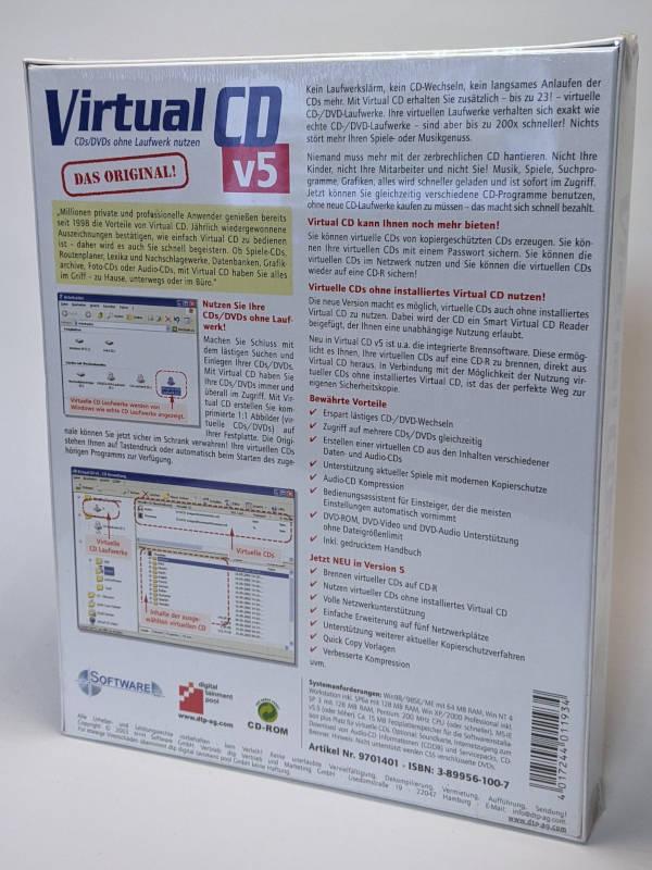 Virtual CD v5 Software Verpackung