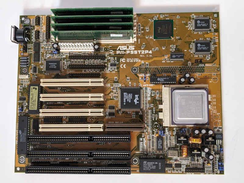 Asus P55T2P4 PC-Mainboard Sockel 7 AT-Format