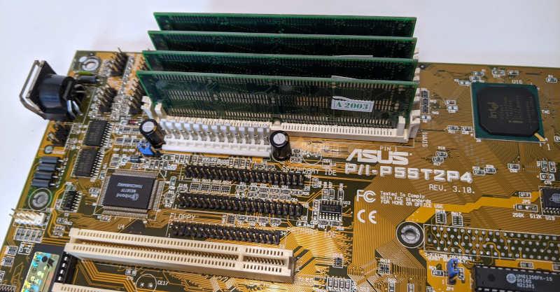 Asus P55T2P4 PC-Mainboard Sockel 7 RAM-Module