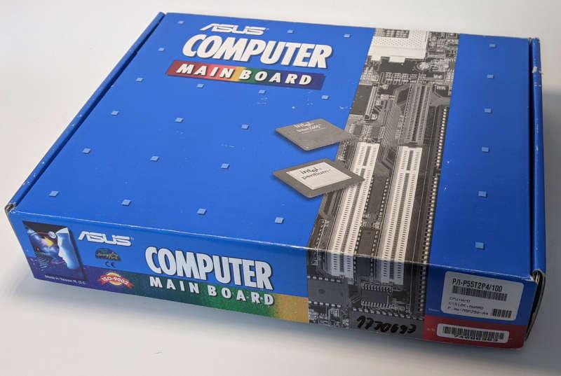 Asus PC-Mainboard P/I-P55T2P4/100 Verpackung Box
