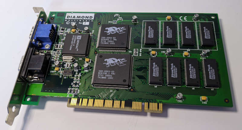 Diamond Monster 3D 3dfx Voodoo1 4MB PCI Karte