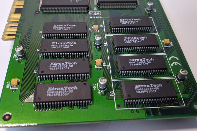 Diamond Monster 3D 3dfx Voodoo1 4MB EtronTech RAM