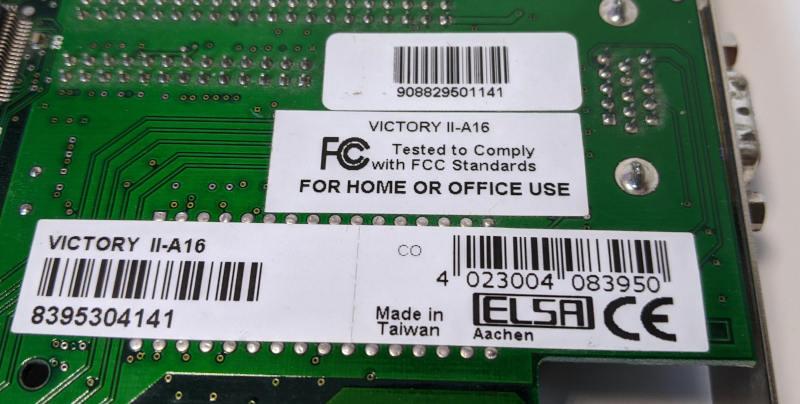 ELSA Victory II-A 16 mit Voodoo Banshee 8395304141