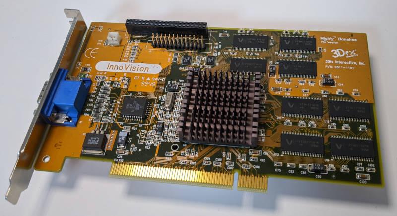 3Dfx Interactive Mighty Banshee Innovision Grafikkarte PCI 16MB P/N 9811-1101