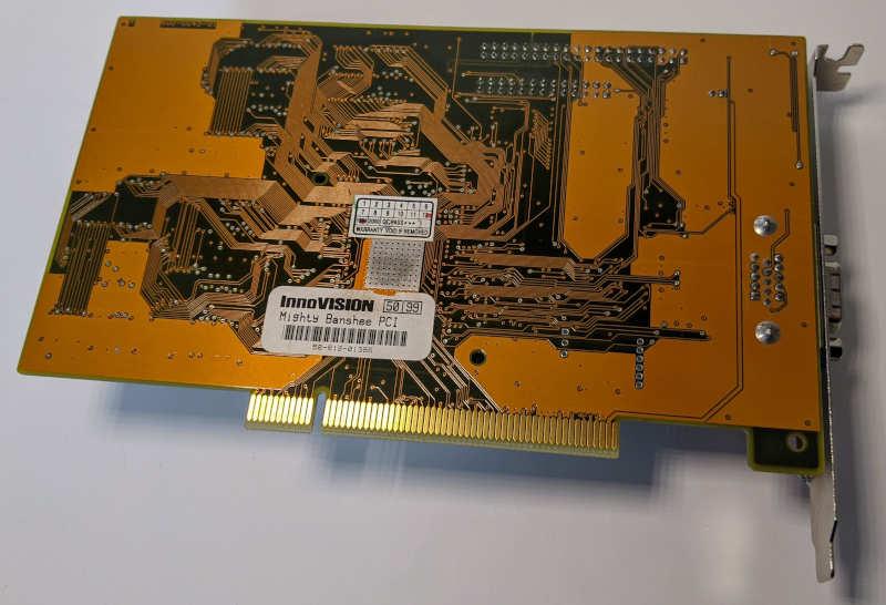 3Dfx Interactive Mighty Banshee Innovision Grafikkarte PCI 16MB 58-812-01386