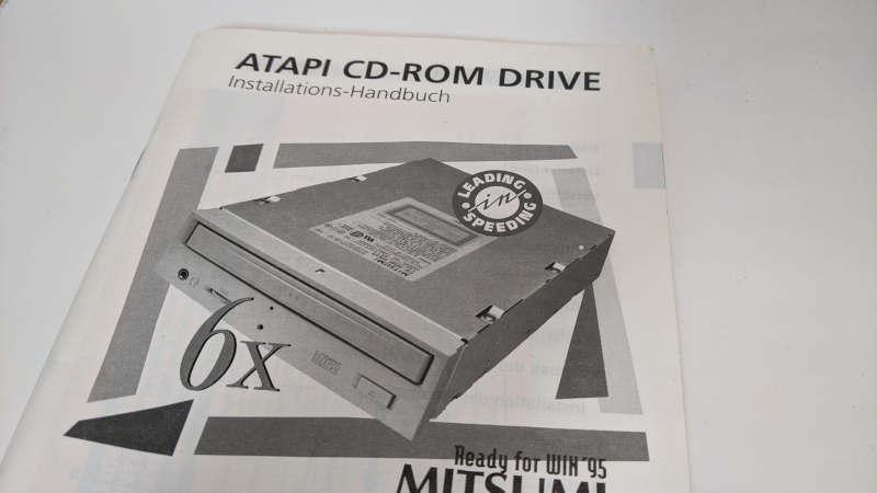 Mitsumi CRMC-FX600S CD-ROM Handbuch Manual