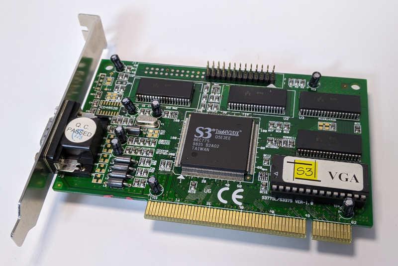 Grafikkarte S3 Trio64V2/DX Graphics PCI VGA Video Card