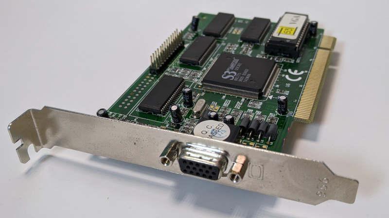 Grafikkarte S3 Trio64V2/DX Graphics PCI VGA-Port