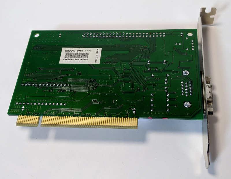 Grafikkarte S3 Trio64V2/DX Graphics PCI Rückseite