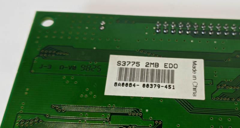 Grafikkarte S3 Trio64V2/DX Graphics PCI S3775 2MB EDO