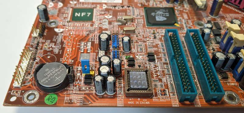 Abit NF7 PC-Mainboard nForce2 Ultra Sockel A (462) Cmos-Batterie Bios