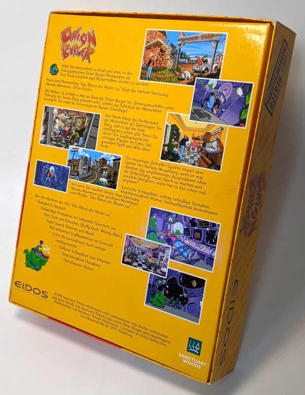 Eidos PC-Spiel Orion Burger Big-Box CD-ROM 1996