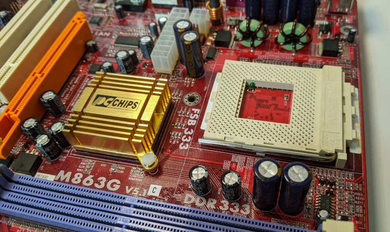 PC-Chips PC-Mainboard K7 M863G SiS 741GX Sockel 462