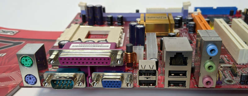 PC-Chips PC-Mainboard K7 M863G SiS IO-Ports