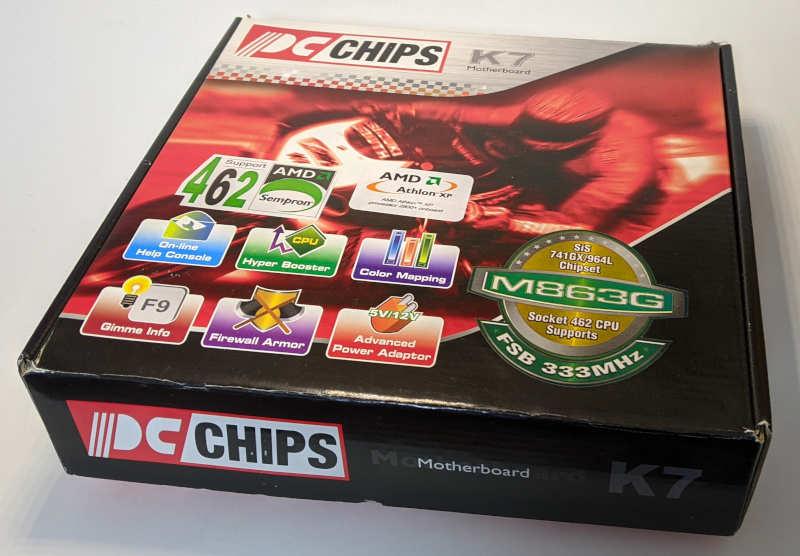 PC-Chips PC-Mainboard K7 M863G alternativer Karton
