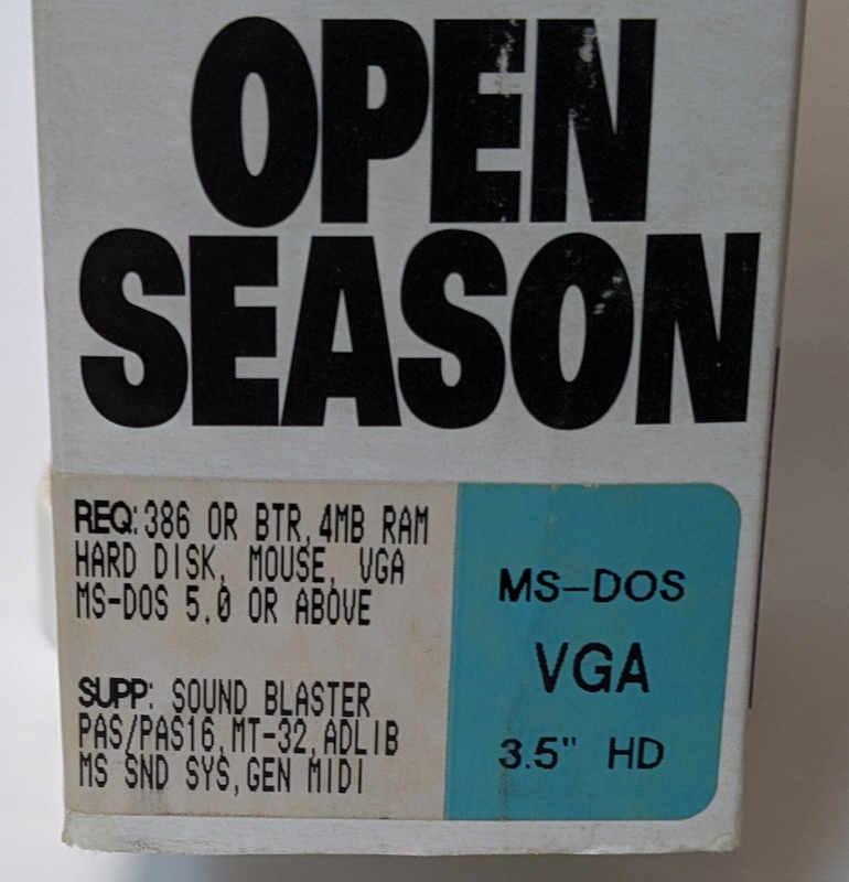 Sierra On-Line Game Police Quest Open Season - PC-Spiel - MS-DOS VGA
