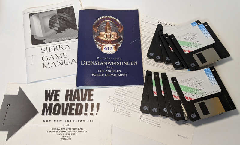 Sierra On-Line Game Police Quest Open Season - Disketten Handbuch